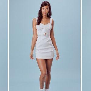 For Love and Lemons White Denim Dress